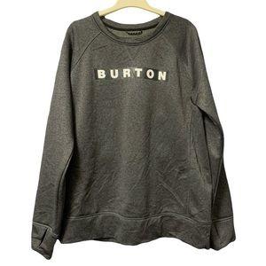Burton Crew Neck Sweater Black Grey Large